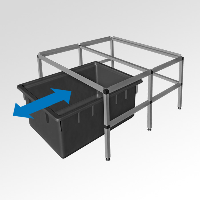 GrowTOOL® growRACK-space for watertank