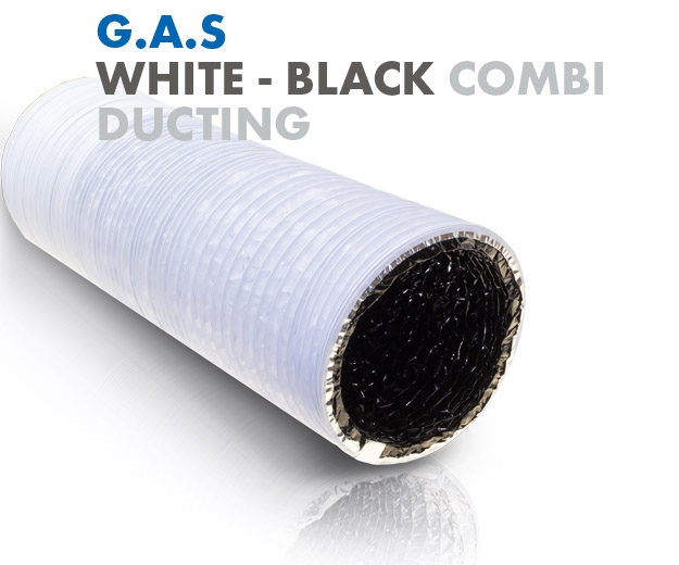 Global Air Supplies White Black Combi Ducting